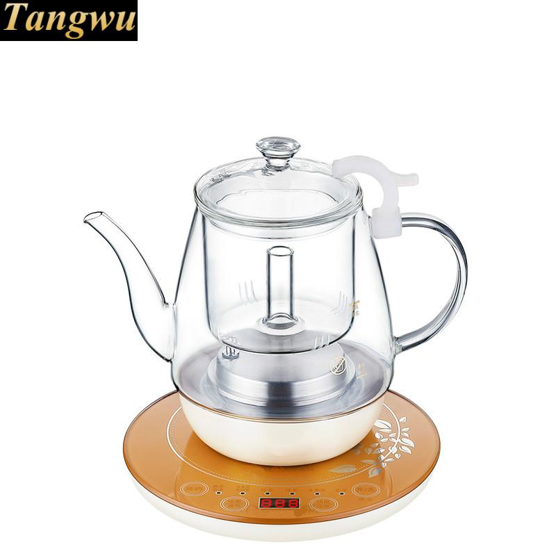 цена на Hot pressure spray intelligent flower teapot fully automatic boiled tea stove glass bubble