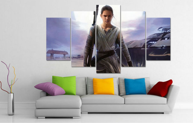 Star Wars Rey Canvas Picture Painting