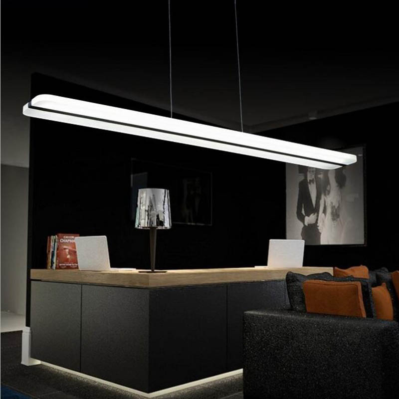 Us 147 6 55 Off Horizon Creative Led Strip Dining Chandelier Simple Modern Restaurant Dimming Acrylic Lighting Fixture In