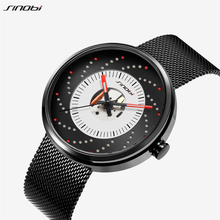 SINOBI 19 New Creative Fireworks Luminous Hole Mens Watch Japan Movement Top Luxury Man Quartz Wrist Watches relogio masculino