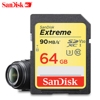 Original SanDisk Extreme Class10 SD Card 32GB 90MB/s fastest Memory card for Canon 64GB SDHC/SDXC 128GB Memory cards for Camera
