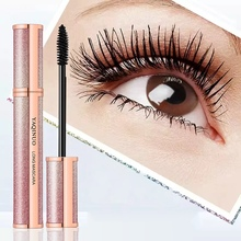 1PC New Starlight Silk Fiber Mascara Waterproof Smudge-Proof Long-Lasting Dense Slender Lashes