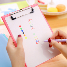 1pcs Candy Creative Folder Student Papers WordPad Cartoon A5 Folder Writing Board Folder Filing Document School&Office Supplies coloffice 1pc candy color a5 pu straight plywood fashion signed clipboard fold over kawaii wordpad vertical writting board