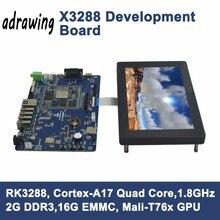 ARM Cortex-A17 Quad-Core X3288 Развитию RK3288 2 ГБ DDR3 16 ГБ EMMC+ 7 Дюймовый Емкостный LCD поддержка Dual-band WIFI/BT4.0