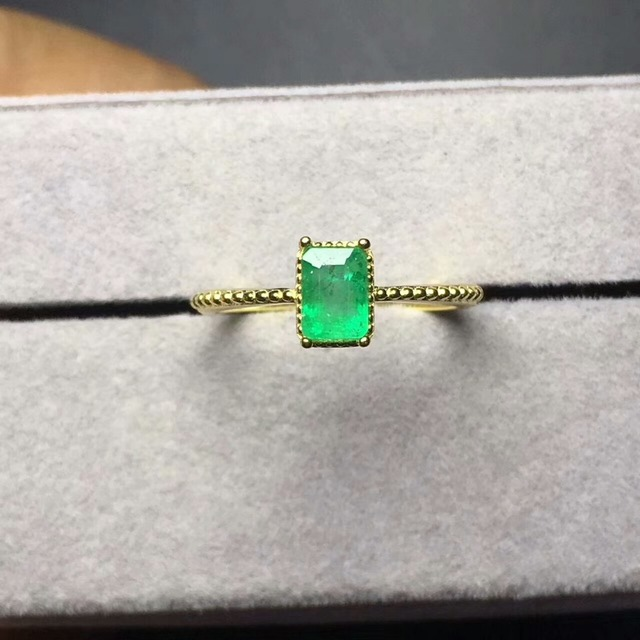 2018 hot sale fine jewelry perfact Zambia natural emerald ring for women with ce