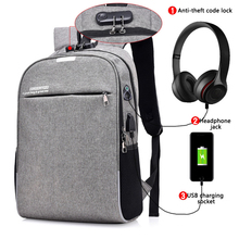 Computer Laptop USB Charging Backpack School Bag Pack Adult Student Bags Business Backpack Male Polyester Travel Backpack 2019