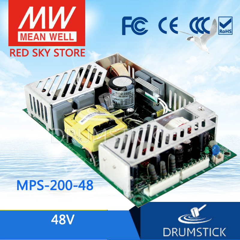 Selling Hot MEAN WELL MPS-200-48 48V 4.2A meanwell MPS-200 48V 201.6W Single Output Medical Type хай хэт и контроллер для электронной ударной установки millenium mps 200 mono cymbal pad