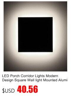 quadrado lâmpada de parede montado alumínio pátio