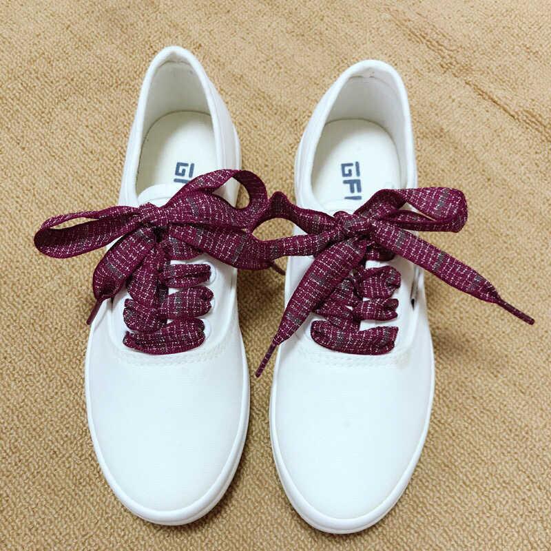 1 çift İngiliz Tarzı Ekose Ayakabı Pamuk Ve Keten Sneaker Spor Günlük Ayakkabı Dantel Uzunluğu 60/80/100cm Erkekler Kadınlar Shoelace