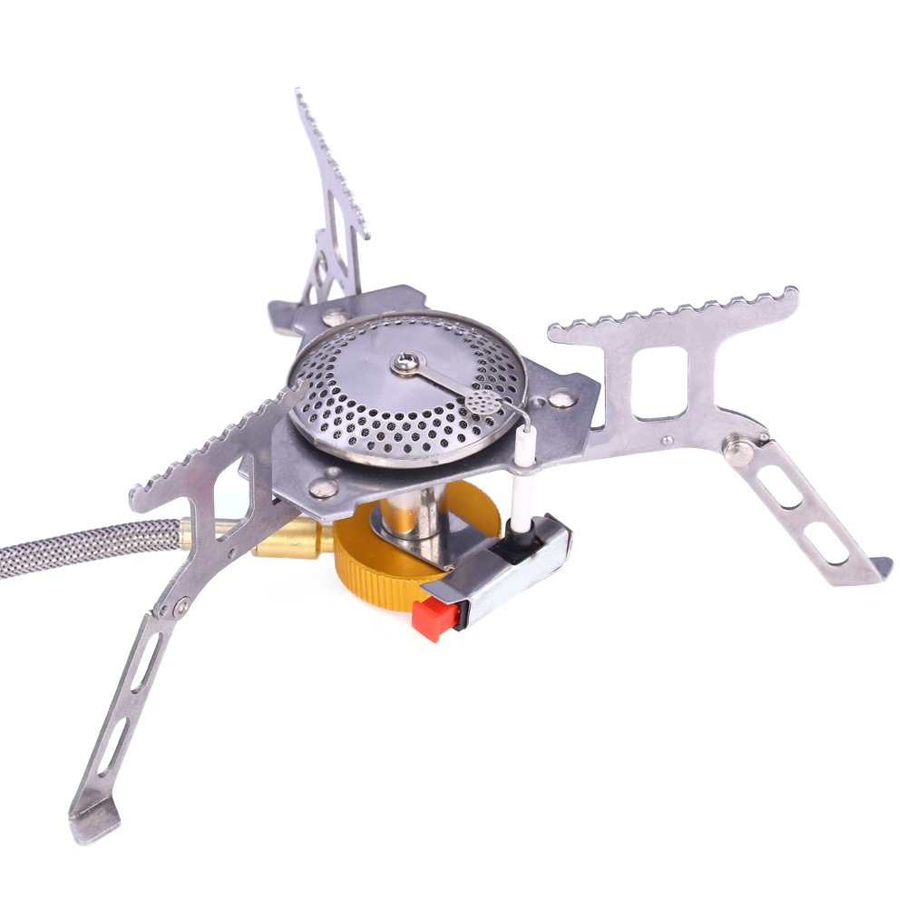 Portable Stove Gascookers Gas Burner Split Type Stove Head For Outdoor Camping Picnic Equipment Mini Stainless Steel Gas Stoves point break outdoor camping cookware portable picnic stoves gas stove oven split type cs g18