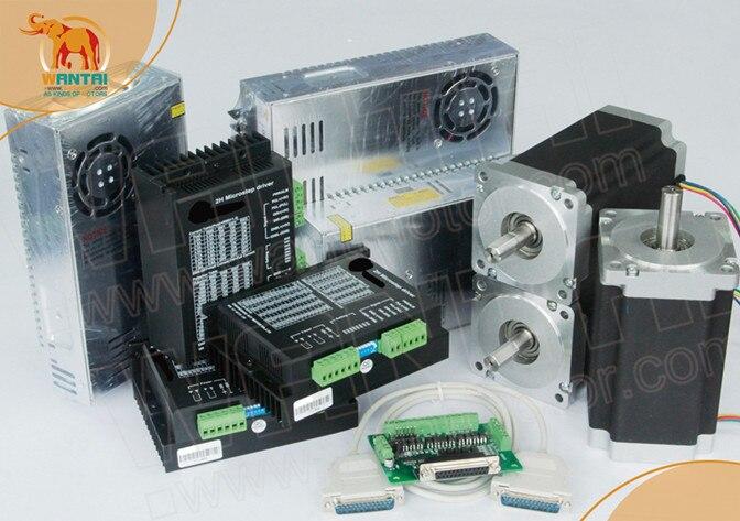 Power Kit! CNC Wantai 3 Axis Nema34 Stepper Motor WT86STH118-6004A 1232oz-in+Driver DQ860MA 80V 7.8A  256Micro Laser Foam MillPower Kit! CNC Wantai 3 Axis Nema34 Stepper Motor WT86STH118-6004A 1232oz-in+Driver DQ860MA 80V 7.8A  256Micro Laser Foam Mill