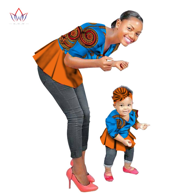 2018 Summer New Fashion Family Matching Clothes Brand Mother and  Baby Family Clothing tops Family african clothing none BRWYT46