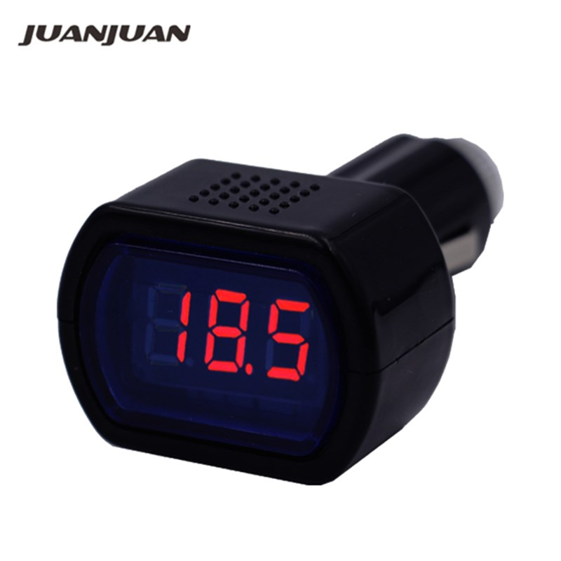DC 12V-24V LED Display Cigarette Lighter Electric Voltage Meter Tester For Auto Car Battery Voltmeter Indicator 10%off