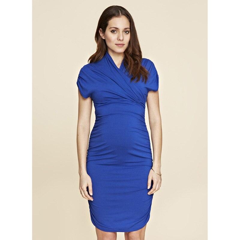 Maternity Elegant Dresses Elegant Black Blue Women Business Vestidos Pregnancy Gowns Maternity Clothes for Pregnant Women