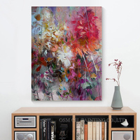 Free Shipping Top Skills Artist 100 Hand Painted High Quality Abstract Flower Oil Painting On Canvas