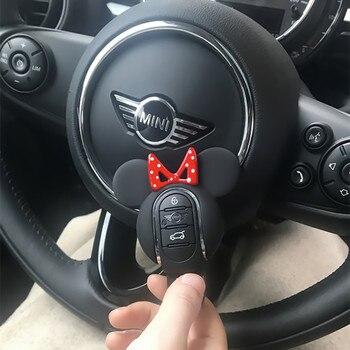 مفتاح السيارة حالة غطاء سلسلة Miky التصميم الماس الديكور ل BMW ميني كوبر S JCW واحد D F54 F55 F56 F57 F60 اكسسوارات السيارات