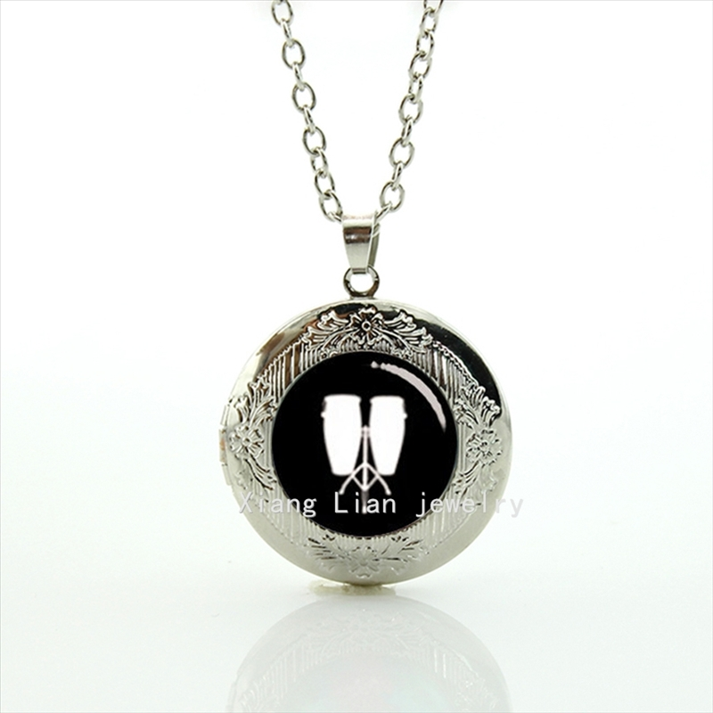2017 Maxi Necklace Low Conga Pendant Necklace Musical Instrument Locket Drums Dj Mixer Musician Gift, Tambourine Jewelry T447