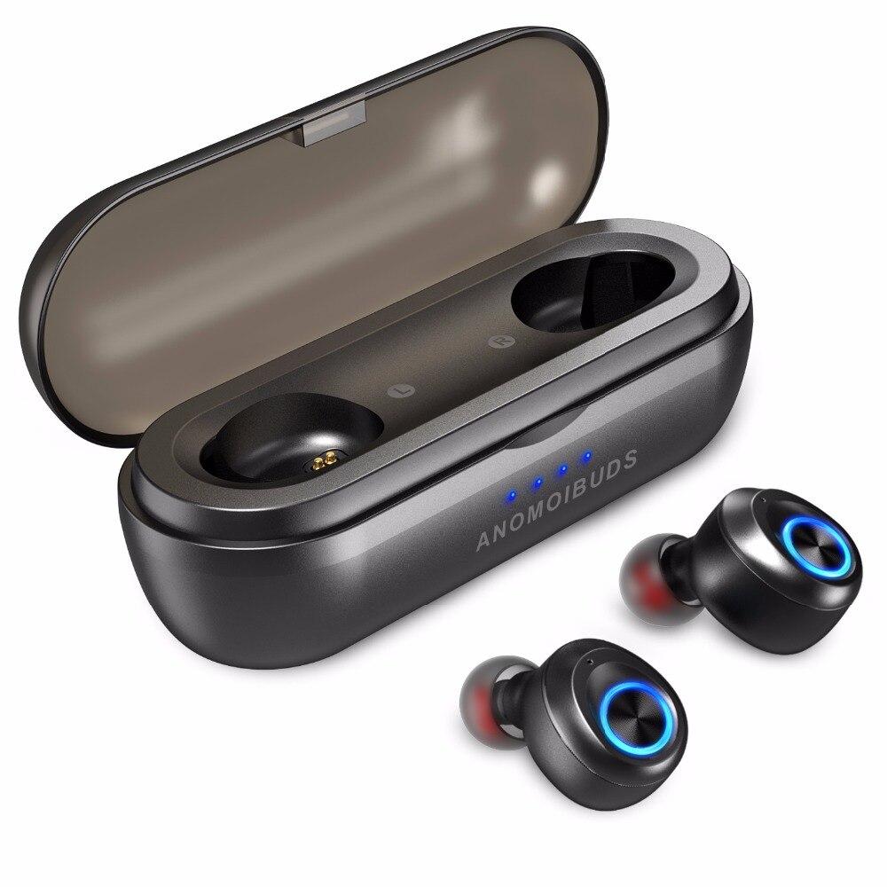Anomoibuds cápsula Pro 50 horas de juego apoyo AAC TWS auriculares V5.0 auricular Bluetooth Bass profundo sonido estéreo de alta fidelidad auriculares