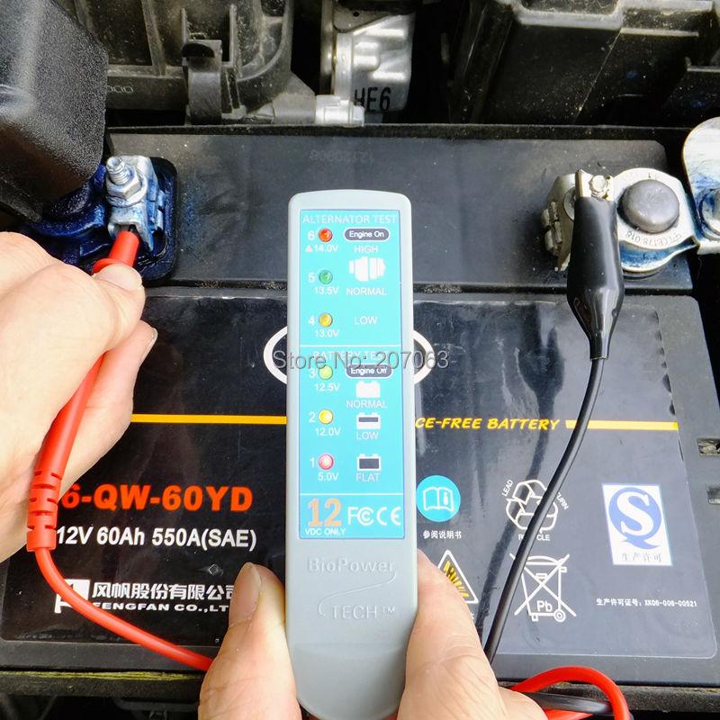 New Arrival! led digital battery alternator tester, 12v car battery ...