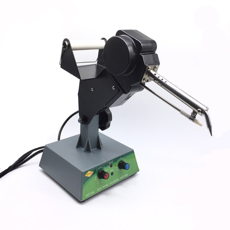 Thermostat pedal soldering machine Lead-free Welding Soldering Machine Automatic Tin Supply Feed System 80W 220V automatic tin feeding machine constant temperature soldering iron teclast multi function foot soldering machine f3100a