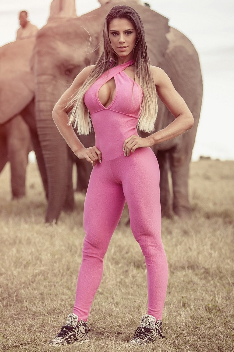 pink one piece jumpsuits sexy bodycon sportwear (2)