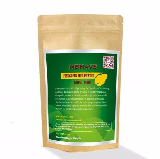 Семян пажитника Порошок 8 унц. Органических (Trigonella foenum-graecum) Premium 100% Чистый