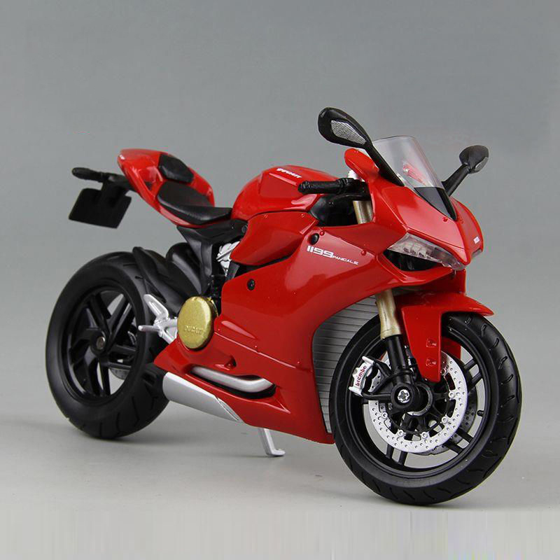 1 12 Scale Motorcycle Model Toys MAISTO Red 1199 Panigale Diecast Racing Motorbike Model Gifts Collections