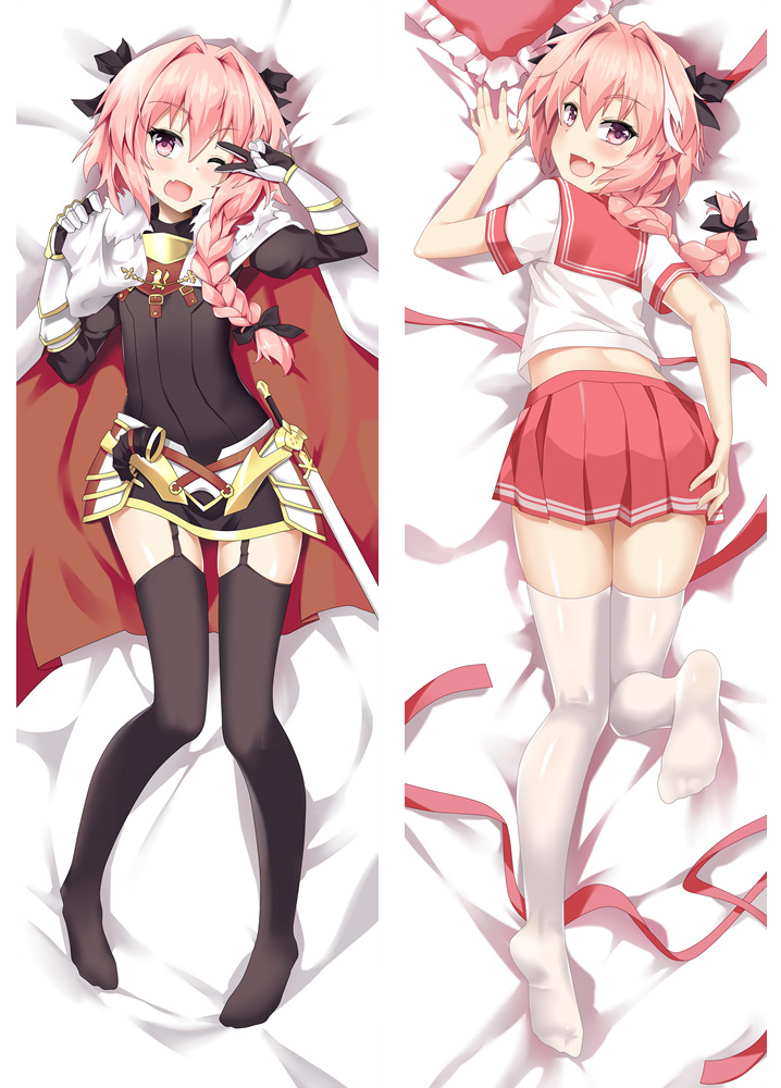 Hot Japanese Anime Fate Apocrypha Astolfo Hugging Body Throw Pillow Cover Case Bedding Covers Dakimakura