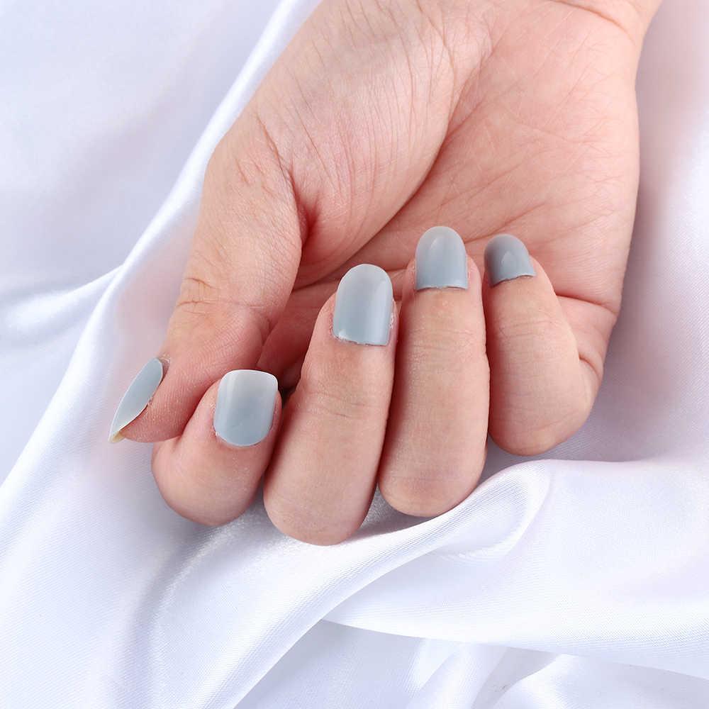 24 pcs/kit DIY Nail Extension Franse Manicure Volledige Cover Nail Tips Franse Nagels Tip Kunstmatige Nep Nagels Druk op Tips