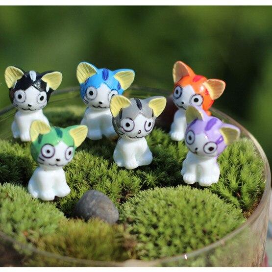 HERMOSO Fantasy Fairy Garden Decoration Crafts Home Decor Fashion Cute Cartoon Cat Micro Landscape Miniature Figurines