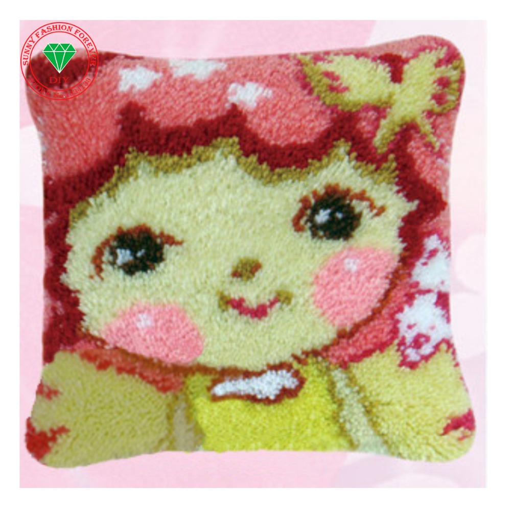 Mat Diy Set Carpet Home Craft Latch Hook Rug Kits Cushion Pillowcase Cross Sch Wool Embroidery