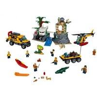 60161 39065 870pcs Jungle Exploration Site Figure Building Blocks Bricks Toys for Children Compatible Legoe City