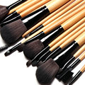 18PCS Pennelli Cosmetico Professionale Naturale per Ombretto Trucco Professional Makeup Brush Set Cosmetic Tool burlywood