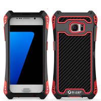 Brand R JUST Case For S7 Edge Luxury Metal Aluminum Armor Waterproof Shockproof For Samsung Galaxy
