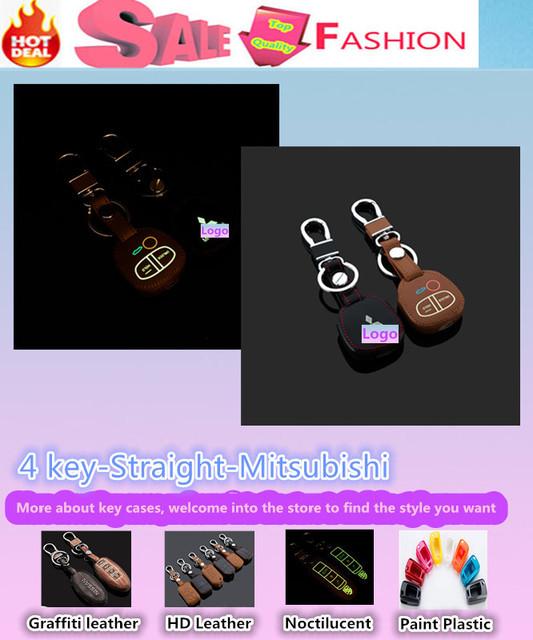 Diseño de Calidad superior Luminoso cadena keys bolsa casos de Cuero Billetera inteligente/fold para Mitsubish1 ASX Outlander LANCER EX Pajero