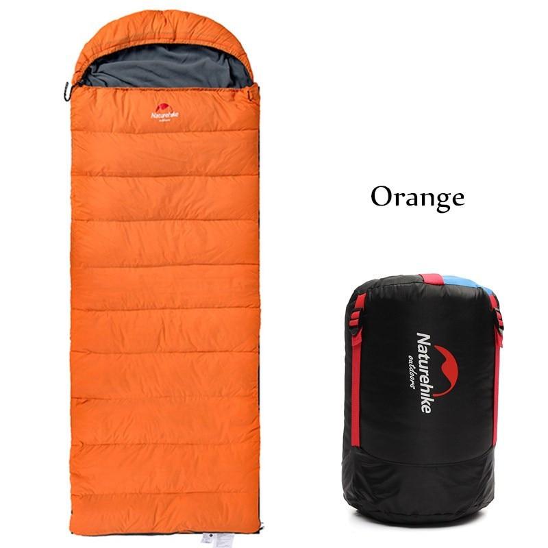 Naturehike Outdoor Adult Envelope Type Sleeping Bag Duck Down Cotton Waterproof Sleeping Bags travel camping equipment