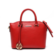 Real leather womens handbag Pure color Large capacity shoulder bag for women of Famous Brand luxury genuine