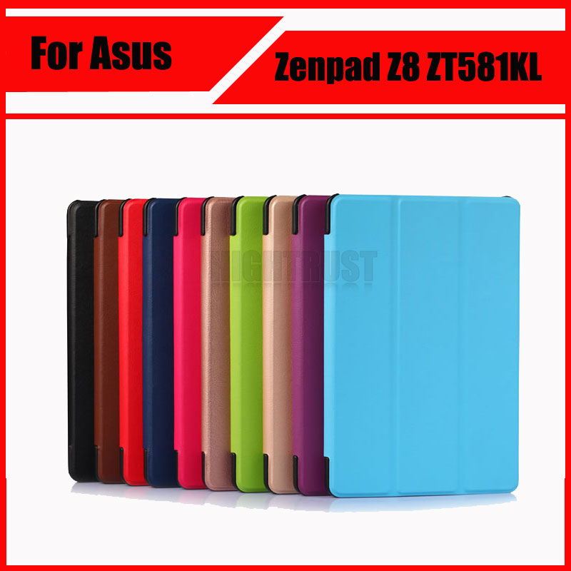 3 in 1 Ultra Thin PU Leather Stand Case Cover for 2016 New Asus Zenpad Z8 ZT581KL 8