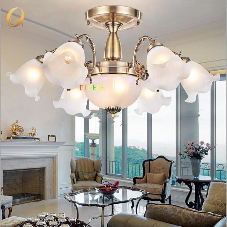 2015 modern crystal ceiling light lights for dining room - Lampara para comedor techo ...