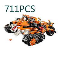 2017 Standard brick size 711pcs Tiger's Mobile Command amazing fascinating Model Building Blocks Toys Gift For Boys