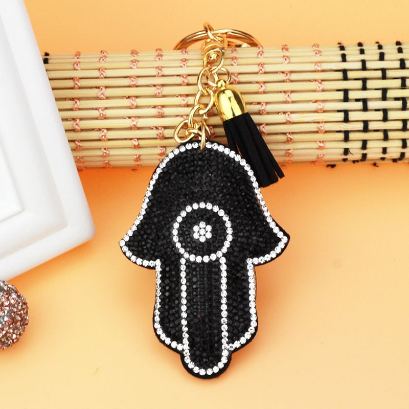 H:HYDE 2017 Hot Style Chic Hand Crystal Nice Keychain Shoe Keyring charm Women Handbag key holder Girl Bag Pendant Jewelry