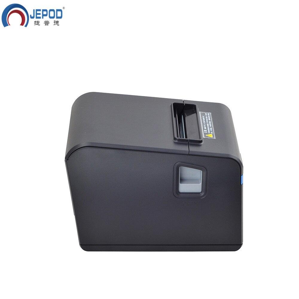 JEPOD XP N160II nouvelle arrivée 80mm automatique cutter reçu imprimante POS imprimante USB/LAN/USB + Bluetooth ports pour magasin de thé au lait - 5