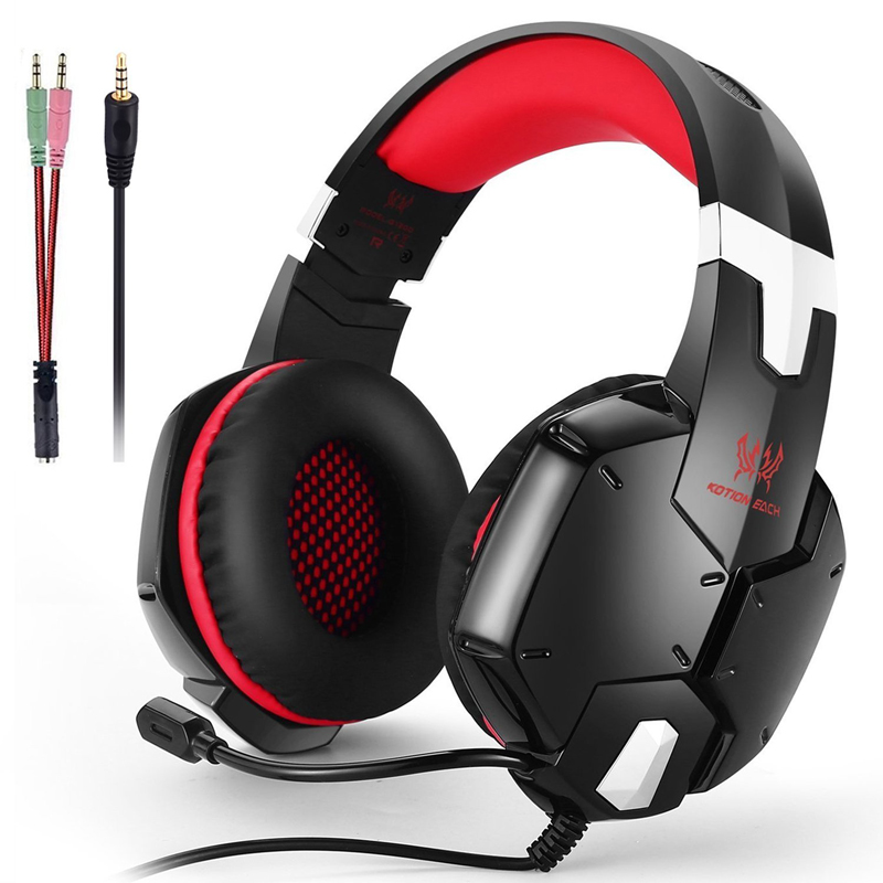 Gaming Headset PS4 Earphone Computer Headphone With Microphone Headphone For Computer With Mic Gamer Headset Splitter 215mm
