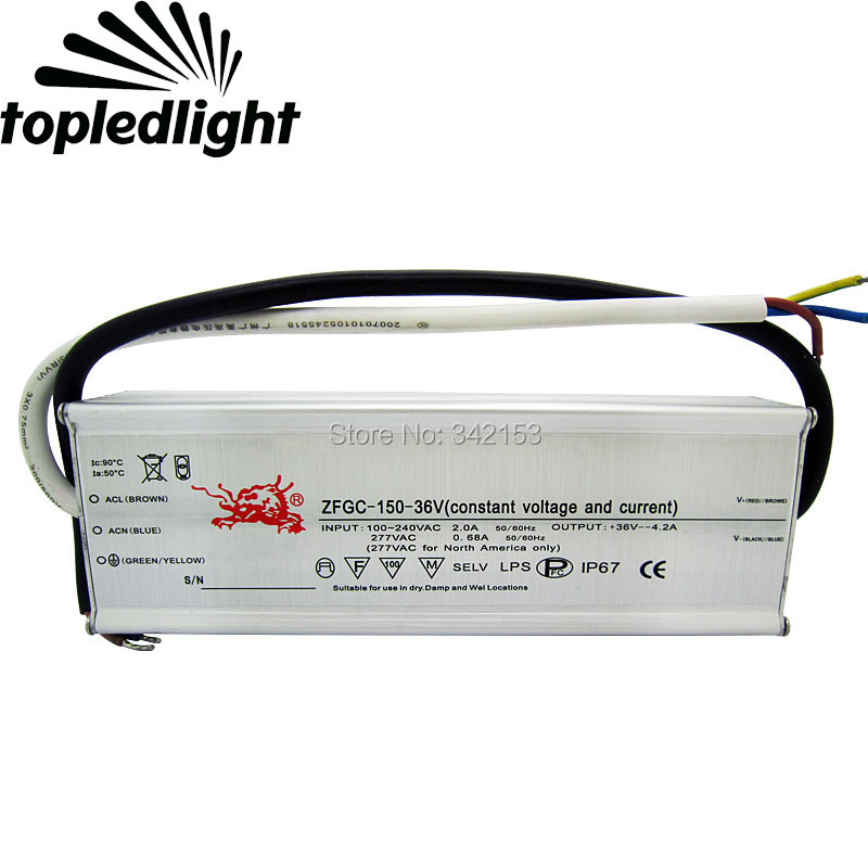 IP67 Waterproof Lighting Transformers 26-36V 4.2A 150W High Power Constant Current Led Driver For High Power Led Lamp Light 90w led driver dc40v 2 7a high power led driver for flood light street light ip65 constant current drive power supply
