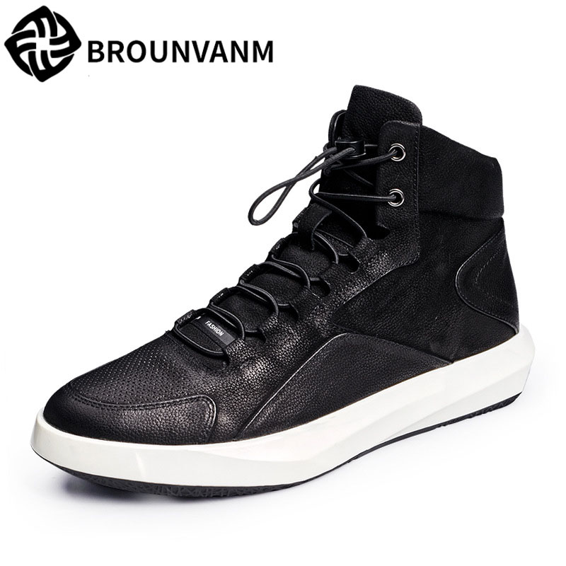 New England men high casual leisure fashion a genuine leather breathable sneaker boots all-match Martin boots men shoes 2017 fashion red black white men new fashion casual flat sneaker shoes leather breathable men lightweight comfortable ee 20