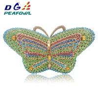Luxury Butterfly Diamond Hollow Out Women Clutch Bag Pochette Purse Bag Chain Crystal Ladies Wedding Bride Lady Evening Bag