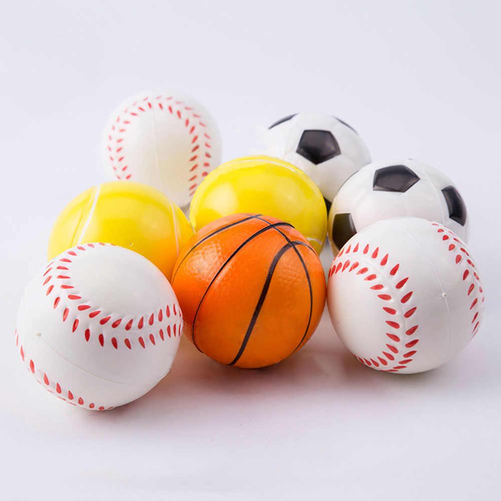 Pelota de baloncesto de mano de béisbol de Fútbol Tenis ejercicio suave  elástico Squuze Stress Reliever eebc8fc2caa36