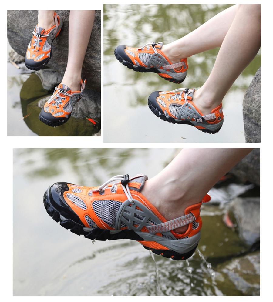 sapatos de água respirável ao ar livre