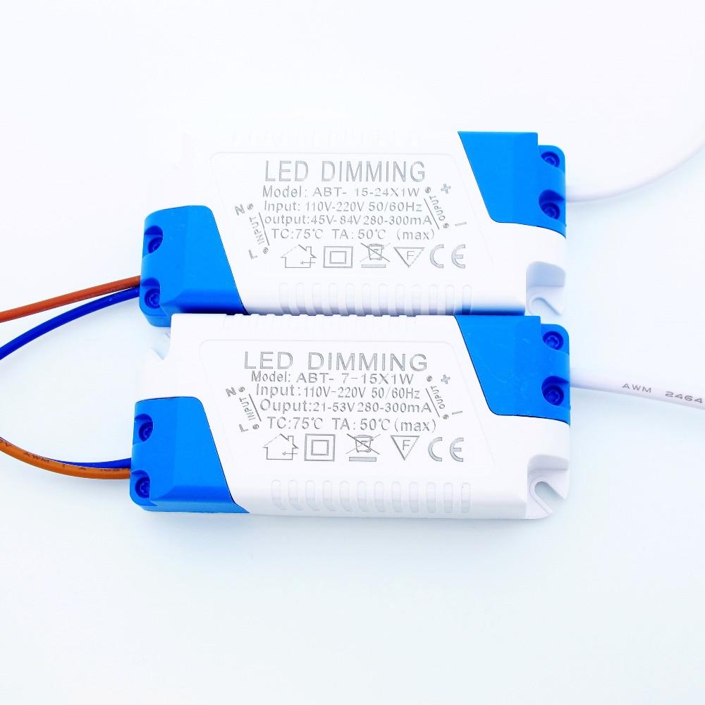 Светодиодный драйвер с регулируемой яркостью 300 мА, 7 Вт 9 Вт 10 Вт 12 Вт 15 Вт 18 Вт 21 Вт 24 Вт, источник питания переменного тока 110 В 220 В, светодиодн...
