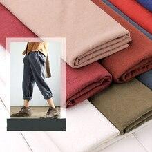 130cm x50cm thick solid color washing treatment cotton linen cloth slub soft fabric diy dress robes clothing handmade 210g/m 210g
